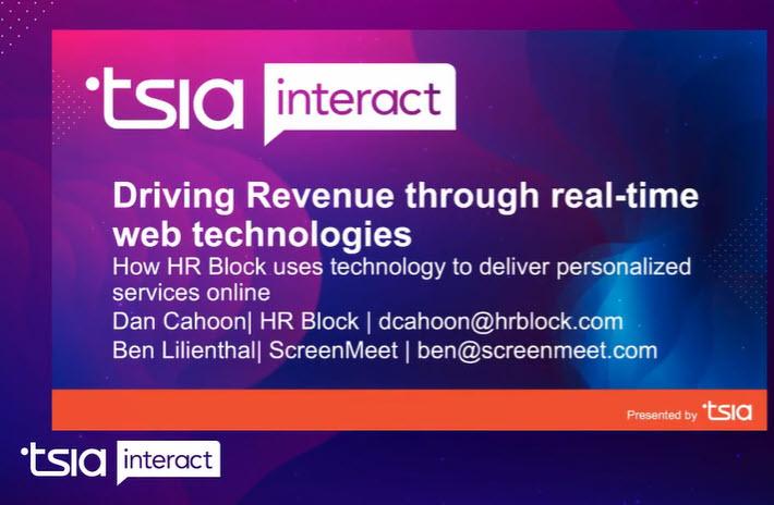 HR Block and ScreenMeet TSIA Webinar