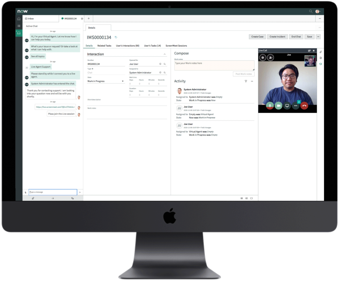ScreenMeet ServiceNow